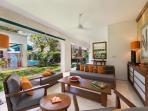 4. Villa Shinta Dewi - Open air living area