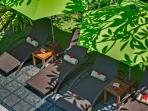 14. Villa Shinta Dewi - Deck chairs from above