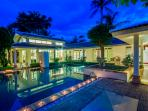 Stunning Baan Arun at night perfect for a laid-back holiday