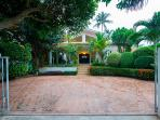 Exquisitely landscaped garden at the entrance