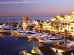 Thé place for an afternoon walk (and some shopping?), followed by nice dinner. Puerto Banus!