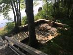 Lakeside fire pit