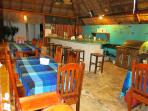 Dinner and Drinks served in our great palapa bar and kitchen