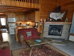 Gas Fireplace, well equipped kitchen