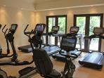 Gym Facilities on the Resort available to villa guests.