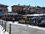 a view of Polpenazze, Saturday's morning street  market