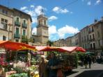 Market day in Pezenas, a favourite pastime
