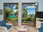 A tour of Suite 9A follows: 6 photos (Oceanfront Garden Suite, lower).