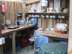 Wheems Eco Glamping Pod / Bothy shared kitchen