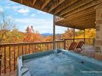 Lower Level Deck with Hot Tub at Southern Comfort Inn