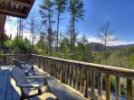 Deck at Cabin On The Hill