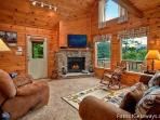 Living Room at Cabin On The Hill