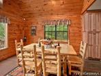 Dining Area at Cabin On The Hill