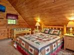 Lofted Bedroom at Cabin On The Hill
