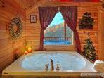 Jacuzzi Tub in Bedroom at Scenic Mountain View