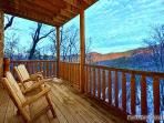 Rear Deck with Chairs at Scenic Mountain View