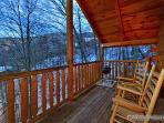 Main Level Deck with Rockers and Grill at Scenic Mountain View