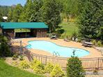 Resort Pool Area at Waters Edge Lodge