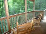 Covered Deck with Chairs at A Great Escape