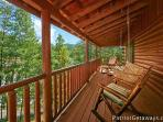 Deck with Rocking Chairs Pigeon Forge Pleasures