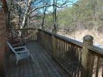 Upper Deck with Chairs at Whispering Creek