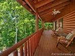 Front Porch with Rocking Chairs at Pigeon Forge Pleasures