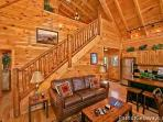 Living Room Staircase at Tree Top Lodge