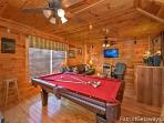 Game Room with Pool Table at Tree Top Lodge