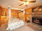 Queen Canopy Bed at Hideaway