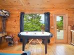 Air Hockey Table In Game Room at 2 Lovin' Bears