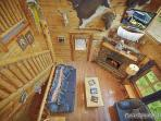 Overhead view of Living Room at Wild Bill's Hideout