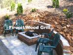 Firepit and Wood Grill at Fishing Bears