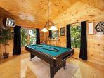 Lofted Game Room at Honey Bear Haven