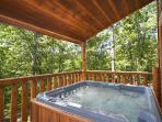 Hot Tub at Honey Bear Haven