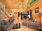 Living Room at Honey Bear Haven