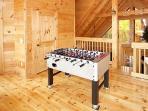 Game Room with Foosball Table at Settlin' Inn