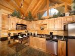 Kitchen with Stainless Steel Appliances at Moose Mountain Lodge