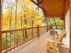 Main Level Deck with Chairs at Wildlife Retreat