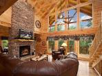 Living Room at Log Wild!