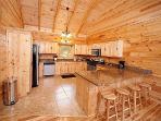 Kitchen at Log Wild!