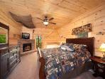 First Floor Bedroom at Log Wild!