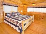 Lofted Bedroom with King Bed at Stars And Stripes