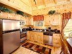 Kitchen with Stainless Steel Appliances at Natural Wonder