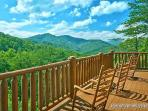 Second Floor Deck with Rockers at Tennessee Dreamer