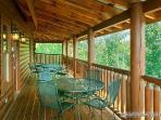 Main Level Deck with Seating at Tennessee Dreamer