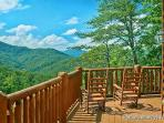 Upper Level Deck with Rockers at Tennessee Dreamer