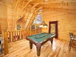 Lofted Game Room at Big Bear Falls