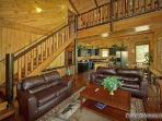 Living Area and Balcony at Making Memories Lodge