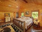 Main Level Bedroom with King Size Bed Making Memories Lodge