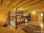 Third Floor Bedroom with Bunk Beds at Making Memories Lodge